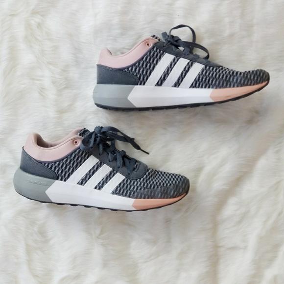 le adidas cloudfoam corsa rosa e scarpe da ginnastica poshmark gray